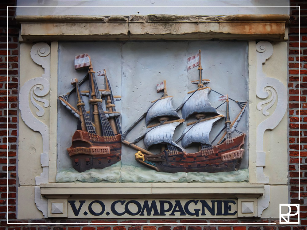 17th century plaque to Dutch East India Company